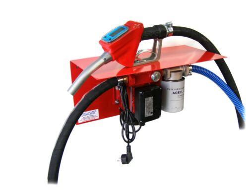 Мини АЗС 220 Вольт 30 л/мин с вмонтированным электронным счетчиком на пистолете для дизельного топлива