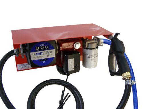Міні АЗС 220 Вольт 60л / хв з механічним лічильником (насос-Польща, лічильник-Італія) для перекачування дизельного палива