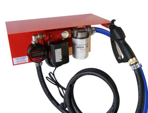 Мини АЗС 220 Вольт 30 л/мин с электронным счетчиком ( насос – Польша, счетчик – Германия) для перекачки дизельного топлива