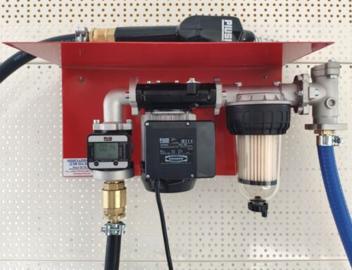 Кращий варіант комплектації міні АЗС 220В 56л / хв з насосом PANTHER 56, з електронним лічильником, фільтром сепаратором води, фільтром грубого очищення PIUSI Італія