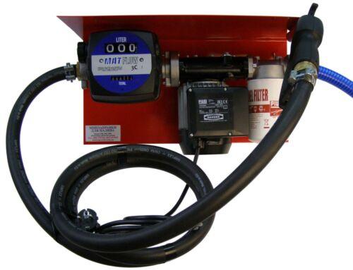 Мини АЗС 220 Вольт 56 л/мин с механическим счетчиком MAT FLOW для дизтоплива,Италия