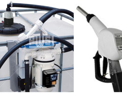 Міні заправка для перекачування AdBlue з вмонтованим лічильником в автоматичний пістолет, на вибір 220V, 12V, 24V PIUSI Італія