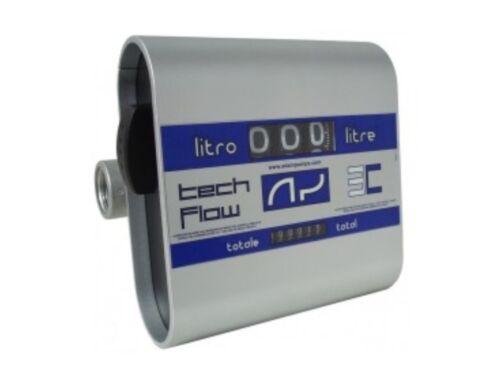 Механический счетчик расходомер для дизтоплива TECH FLOW 3C (20-120л/мин) Adam Pumps (Италия)